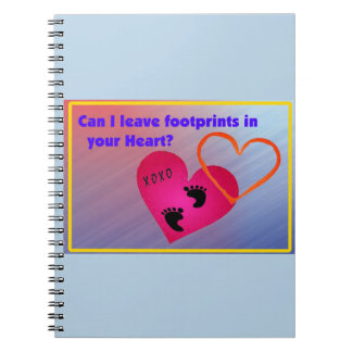 Footprints on Hearts Notebooks