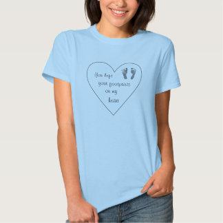 Footprints on my heart - Infant loss shirt