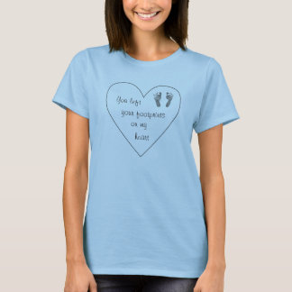 Footprints on my heart - Infant loss shirt