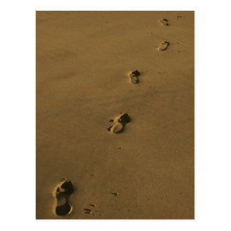 footprints postcard