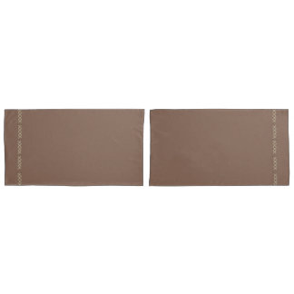 Footsteps Brown Stitched Reversible Pillowcase