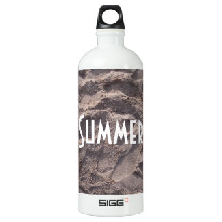 Footsteps in The Sand Beach Summer Holiday Water Bottle
