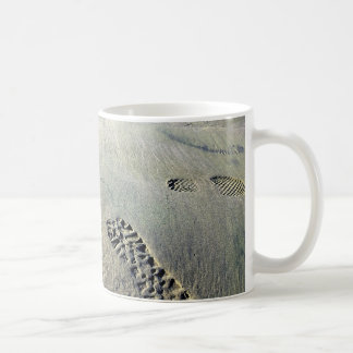 Footsteps in the Sand Coffee Mug