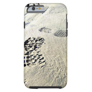 Footsteps in the Sand Tough iPhone 6 Case