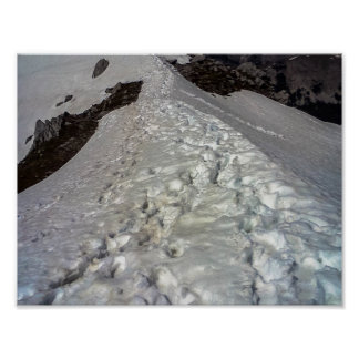 """Footsteps in the Snow Poster (11"""" x 8.5"""")"""