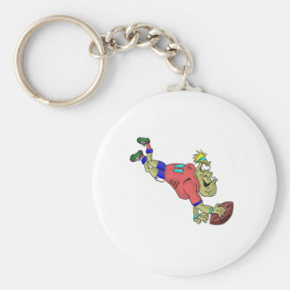 footy meathead !! basic round button key ring