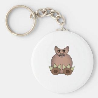 Footy Zulwarf Squashy Creature Basic Round Button Key Ring
