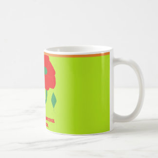 FOR A BEAUTIFUL MOTHER LIME CUP WITH ROSE