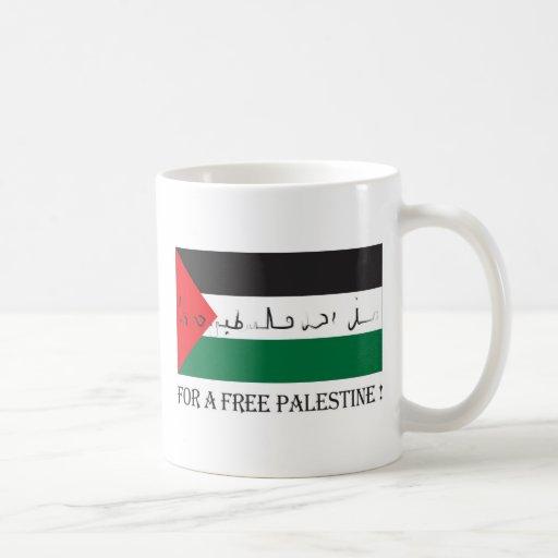 For a free palestine! classic white coffee mug