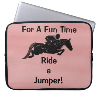 For A Fun Time, Ride A Jumper Laptop Sleeve