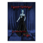 For a Goth wife,A Vampire Birthday card