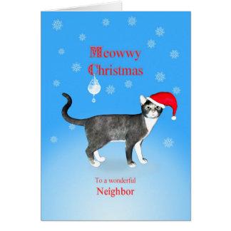 For a neighbor, Meowwy Christmas cat Card
