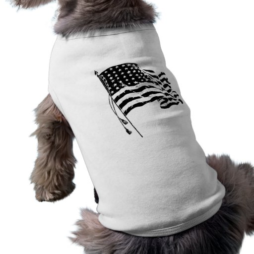 For a patriot from the USA: American Flag Pet Tee