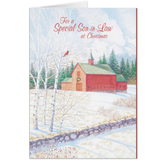 For a Special Son in Law at Christmas Greeting Card