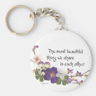 For a Sweetheart Basic Round Button Key Ring