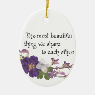 For a Sweetheart Ceramic Oval Decoration