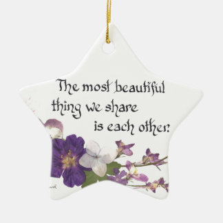 For a Sweetheart Ceramic Star Decoration