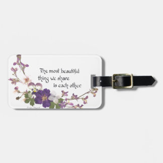 For a Sweetheart Luggage Tag