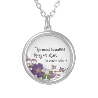 For a Sweetheart Silver Plated Necklace