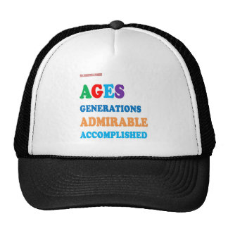 For AGED and ACCOMPLISHED : greetings GIFTS ACK Cap