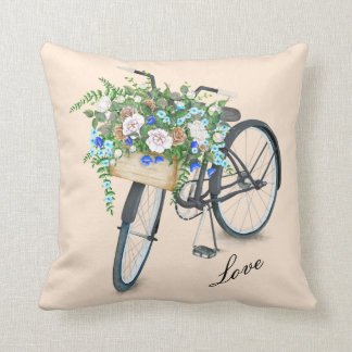 For all Bike Lovers Cotton Throw Pillow