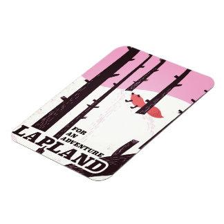 For an adventure Lapland vintage poster Magnet