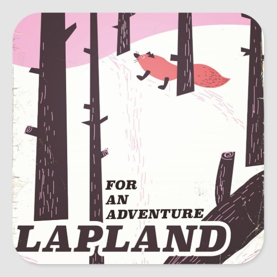 For an adventure Lapland vintage poster Square Sticker