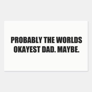 For: An Alright Dad Rectangular Sticker
