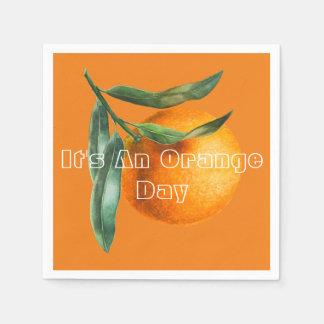 For An Orange Day Disposable Napkin