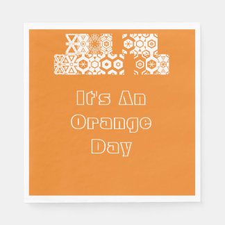 For An Orange Day Disposable Serviette