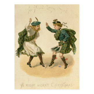 For Auld Lang Syne - A Right Merry Christmas' Postcard