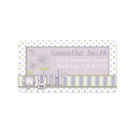 For Baby Girl Address Label LG