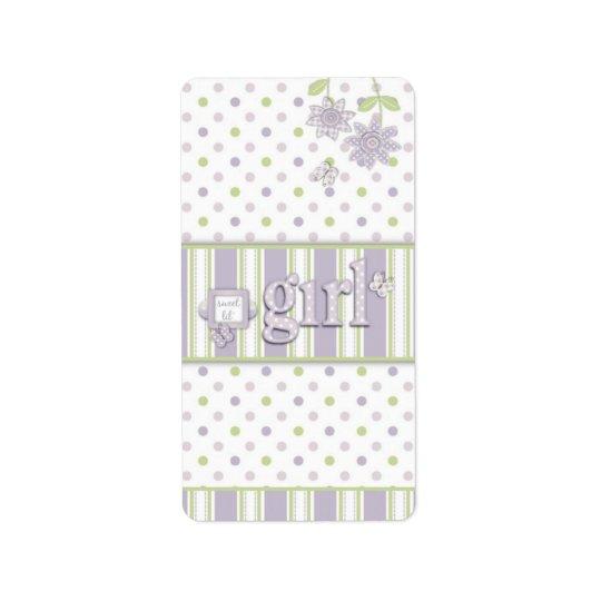 For Baby Girl Mini Hershey Bar Label LG Address Label