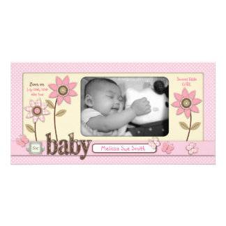 For Baby Girl Photo Card