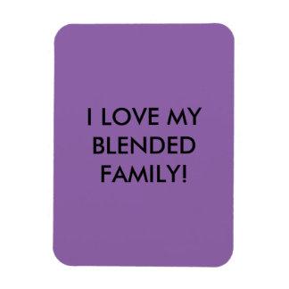 For blended families rectangular photo magnet