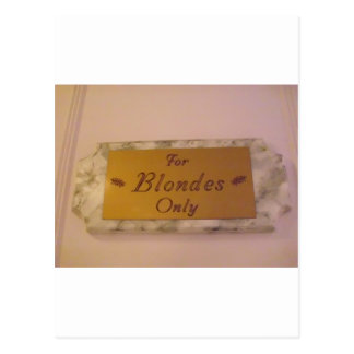 For Blondes Only Postcard