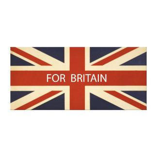 For Britain Union Flag Canvas Print