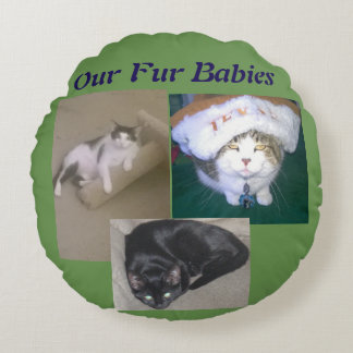 For Burbaby Lovers Round Cushion