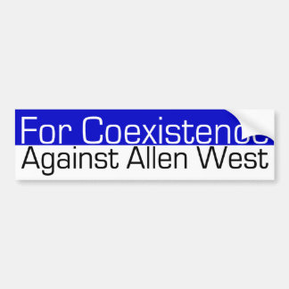 For Coexistence Bumper Sticker