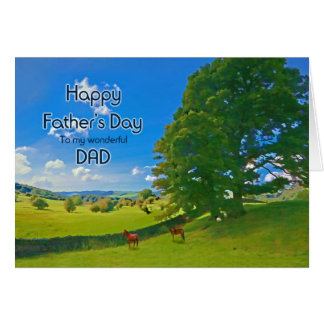 For Dad, a Pastoral landscape Father's Day Greeting Card