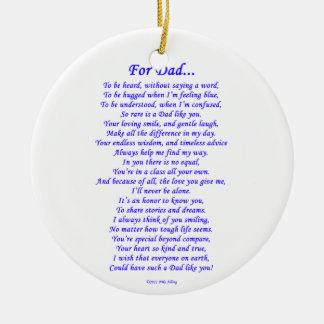 For Dad Ceramic Ornament