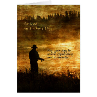 for Dad on Father's Day Fishing Card