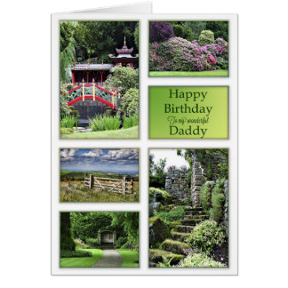 For Daddy, a birthday card with garden views
