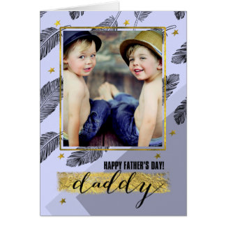 For Daddy on Father's Day Customizable Photo Cards