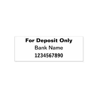 For Deposit Only Bank/Check Self Inking Stamp
