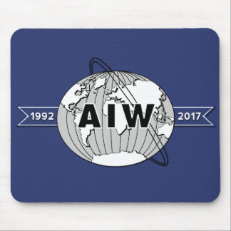 For Desk, AIW 25th Anniversary Logo Horizontal Mouse Pad
