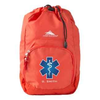 For Doctors and Nurses. Medical Caduceus. Backpack