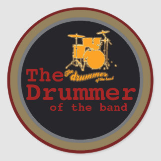 for drummers classic round sticker