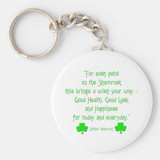 For each petal on the shamrock... basic round button key ring