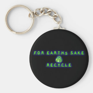 For Earht's Sake, Recycle Basic Round Button Key Ring